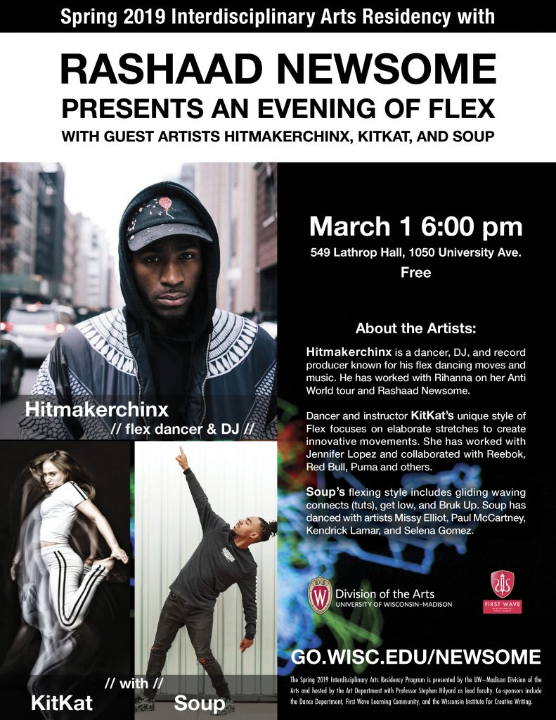Sound Workshop and Flex Dance Demonstration – Division of the Arts